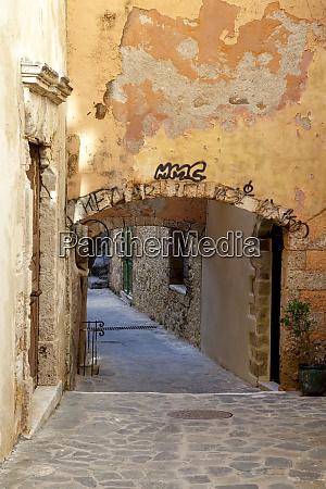 greece crete chania alley in chania