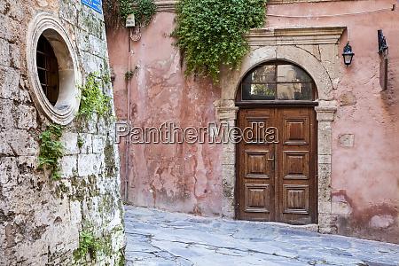 greece crete chania street corner