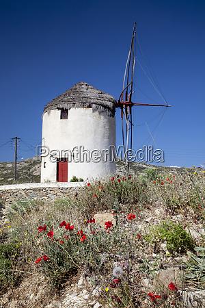 greece santorini windmill
