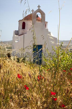 greece santorini church in the countryside