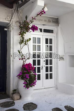 greece mykonos door of a restaurant
