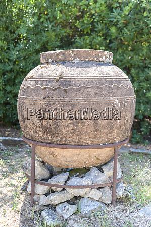 ancient clay vessel mon repos palace