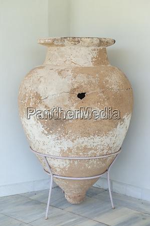 terracotta vessel olympia museum olympia greece