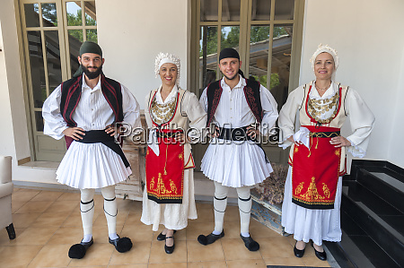 traditional greek dancers tourist club olympia