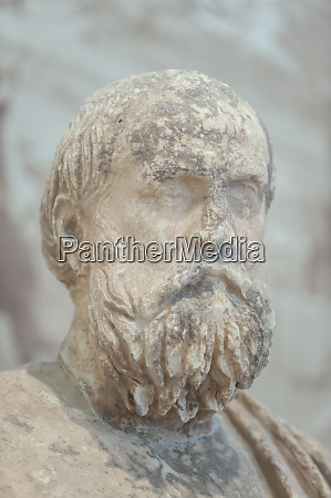 statue of aged man delphi museum