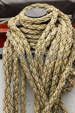 rope on boat docked in the