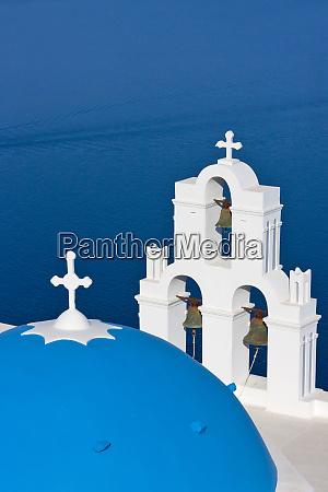 church on the coast of aegean