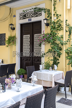 restaurant old town corfu greece