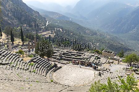 ancient theatre delphi greece