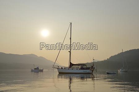 canada british columbia russell island boats