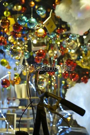 netherlands amsterdam christmas decoration in bookshop
