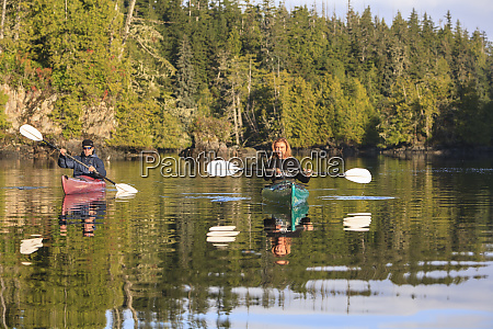 kayakers in clam cove near browning