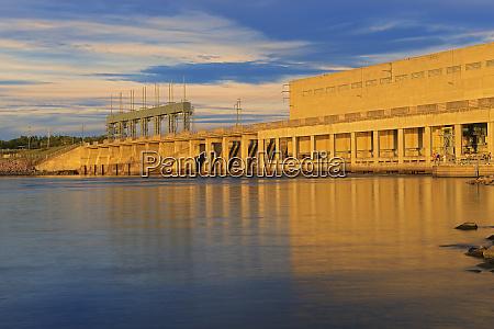 canada manitoba winnipeg hydroelectric dam on