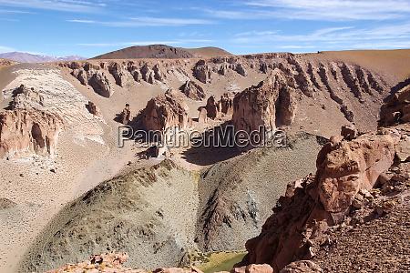 landscape in the puna de atacama