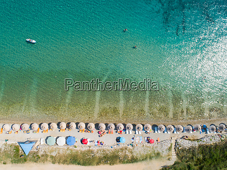 aerial view of people enjoying summer