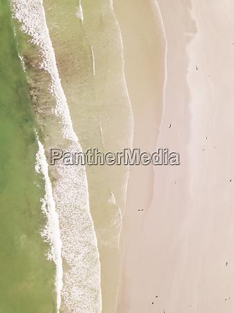 aerial view of empty milnerton beach