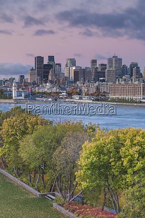 canada quebec montreal elevated city skyline