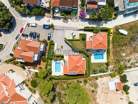 aerial, view, above, vacation, summer, house - 27930357