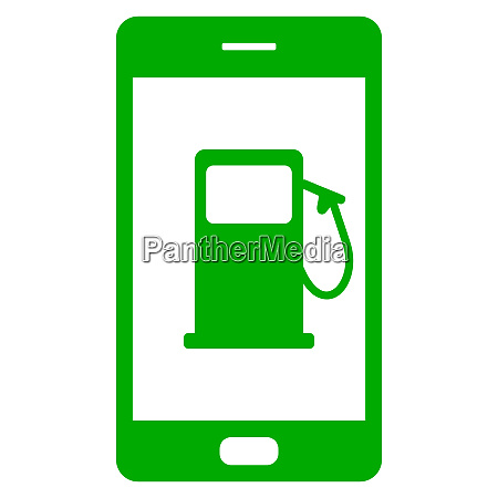 gas station and smartphone