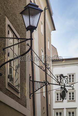 austria salzburg getreidegasse street lamp