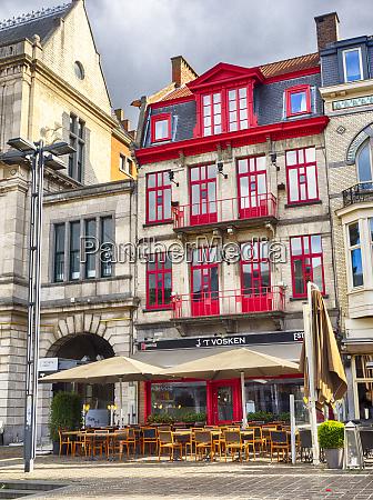 belgium ghent cityscape in sunlight