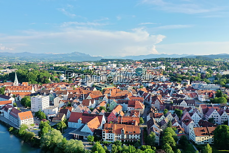 aerial view of kempten with a