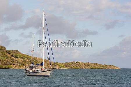british virgin islands attractive sailboat anchored