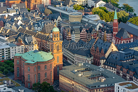 aerial view of paulskirche church in