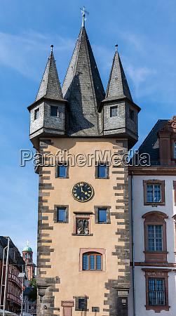 historic tower in frankfurt