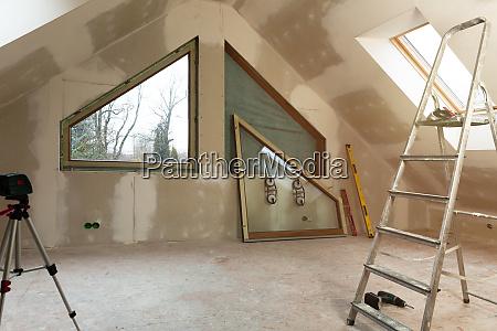 pvc window instalation in a new
