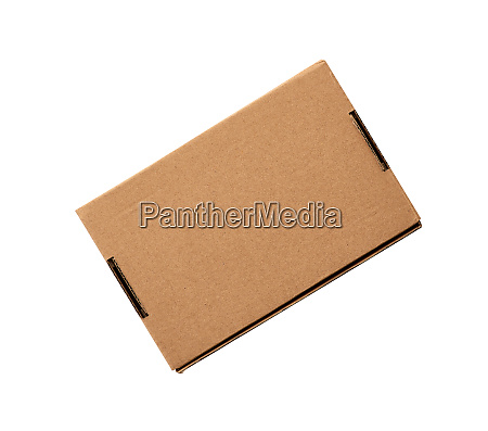 closed rectangular small brown box for