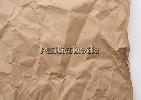 piece of crumpled blank sheet of