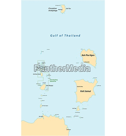 map of the islands of koh