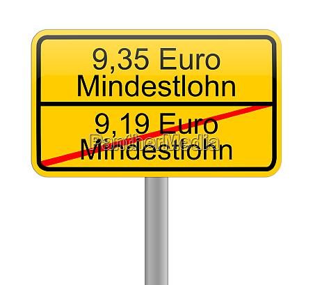 yellow 9 35 euro minimum wage