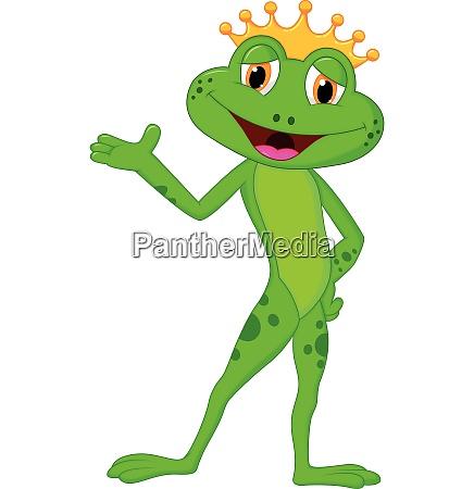 cute frog presenting