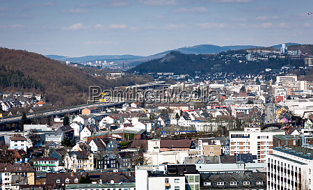 cityscape of siegen and weidenau in