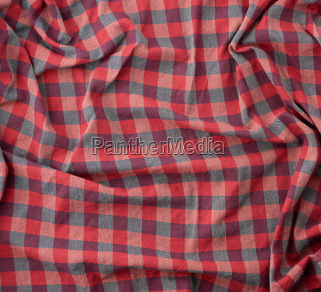 red checkered fabric for sewing various