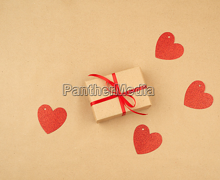 gift wrapped in brown kraft paper