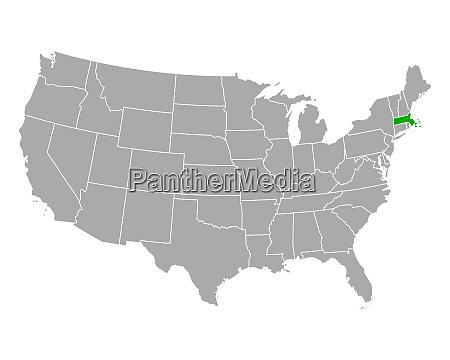 map of massachusetts in usa