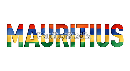 mauritius flag text font