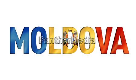moldova flag text font