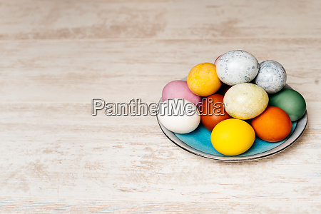 plate full of multi coloured and