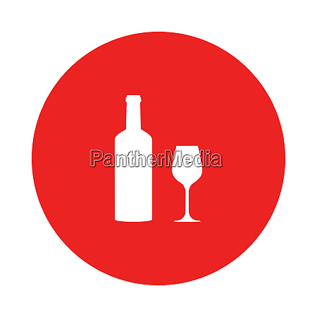 wine glass and circle