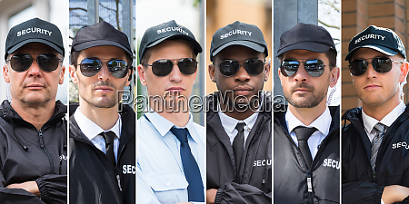 collage of security guards