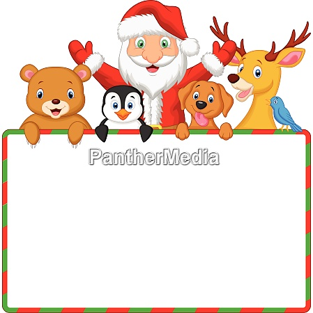 christmas day santa and friend with