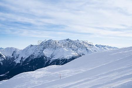 winter landscape of a ski resort