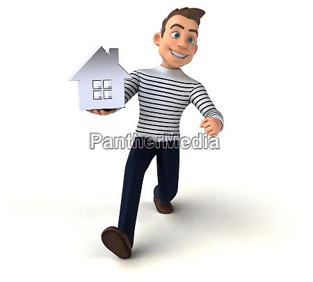 fun 3d cartoon casual character