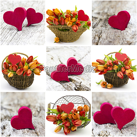pictures wirh tulips and hearts