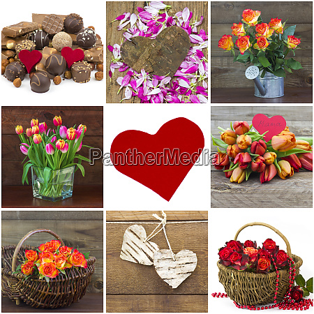 pictures wirh flowers and hearts