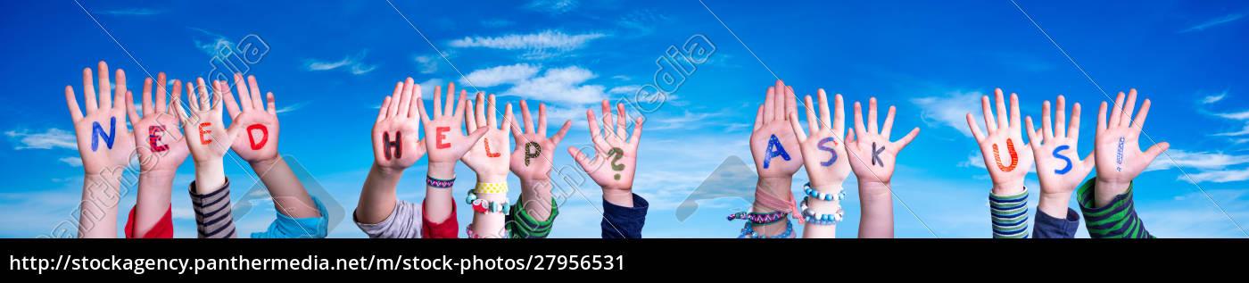 children, hands, building, word, need, help - 27956531